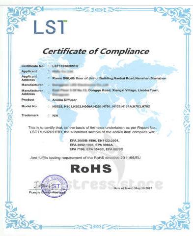 сертификаты inbreathe аромадиффузор