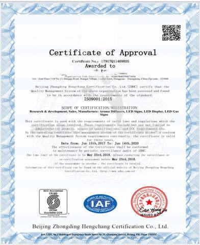 сертификат аромадиффузор inbreathe