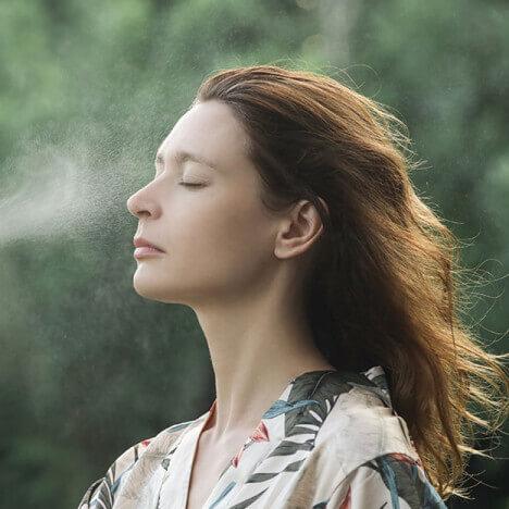 жаркая погода и ароматерапия